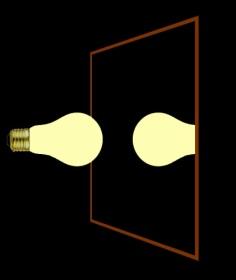 bulb mirror